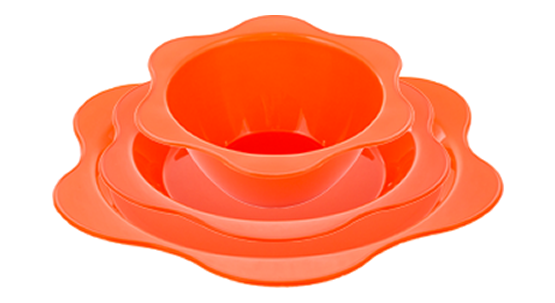 Set Bowl/Platos Flower